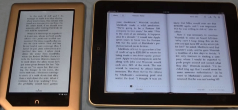 Difference Between iPad and Nook Tablet